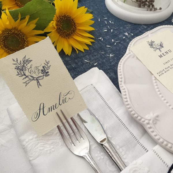Amelie Place Card - Miss Modern Calligraphy