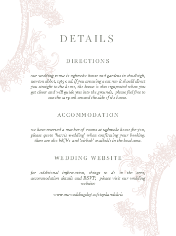 Details Card - Clara Suite - Miss Modern Calligraphy