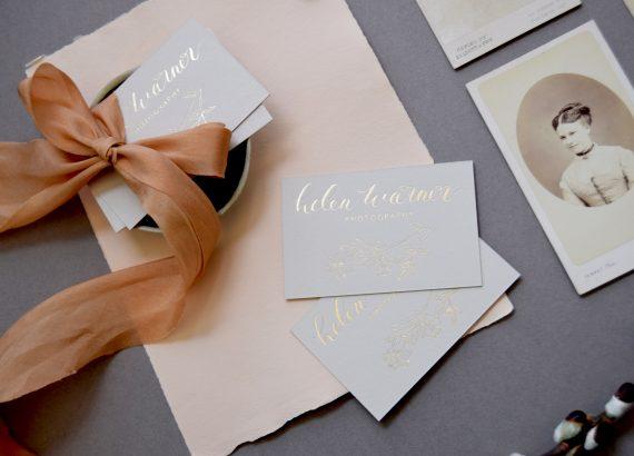 Helen Warner Business Cards - Miss Modern Calligraphy