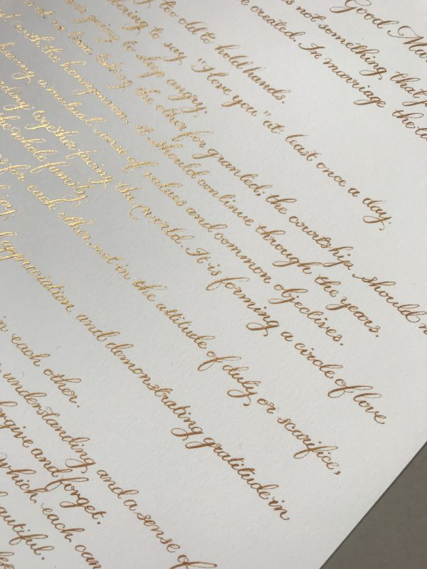 Bespoke Calligraphy Poem, Song or Letter - Miss Modern Calligraphy