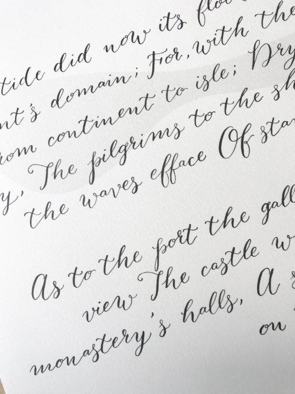 Modern Calligraphy Example - Bespoke Calligraphy Poem, Song or Letter - Miss Modern Calligraphy
