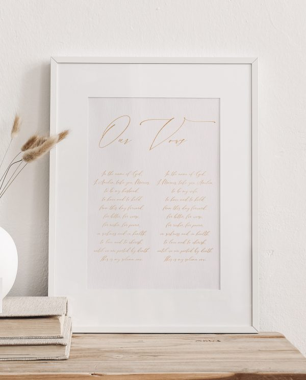 Calligraphy Wedding Vows - Miss Modern Calligraphy