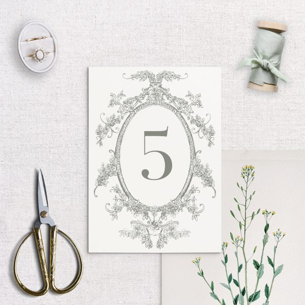 Wedding Table Number - Clara - Miss Modern Calligraphy