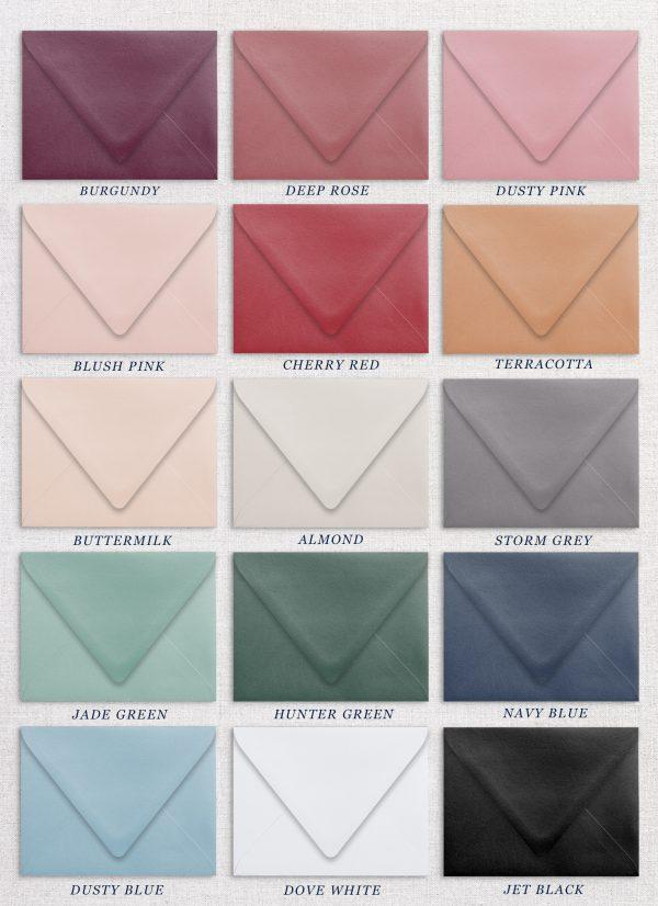Wedding Envelope Colours - Miss Modern Calligraphy