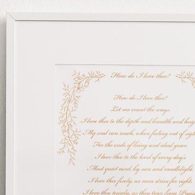 Bespoke Calligraphy Poem, Song or Letter