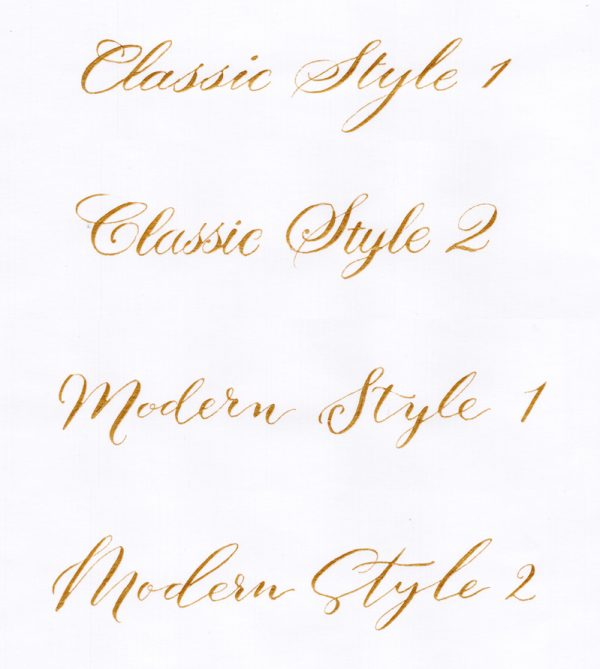 Calligraphy Example Styles - Miss Modern Calligraphy