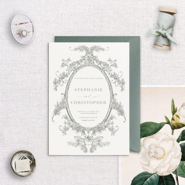 Clara Wedding Invitation - Miss Modern Calligraphy