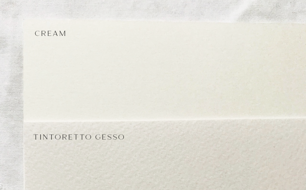 Cream and Tintoretto Gesso Card - Miss Modern Calligraphy