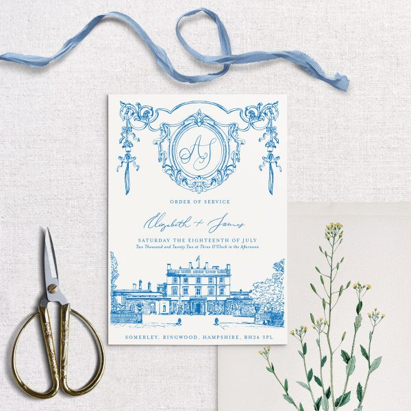 Multipage Order of Service - Matilde - Miss Modern Calligraphy