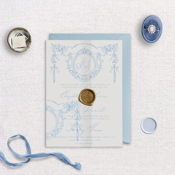 Printed Vellum Wrap - Matilde - Miss Modern Calligraphy